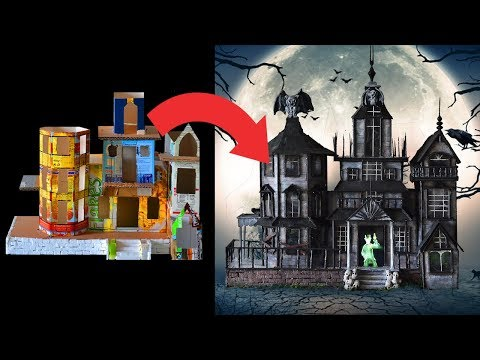 DIY Haunted House using TRASH! Trash to Treasure Ep.1 - Halloween Edition!