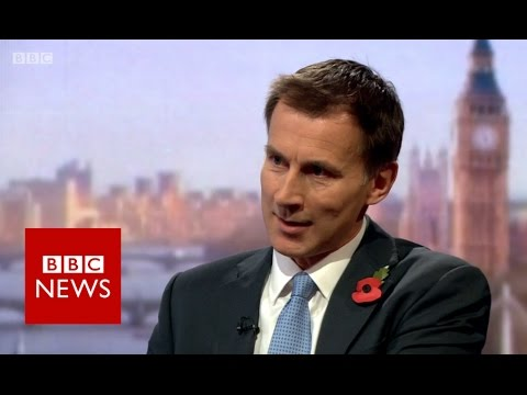 Jeremy Hunt on Brexit and NHS challenges - BBC News