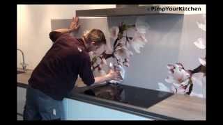 keuken achterwand bevestigen
