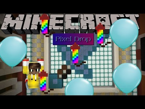 Minecraft Mini-game Pixel Drop: GOT 1750 ON THE FIRST TRY