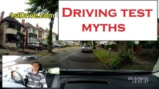 Driving test myths