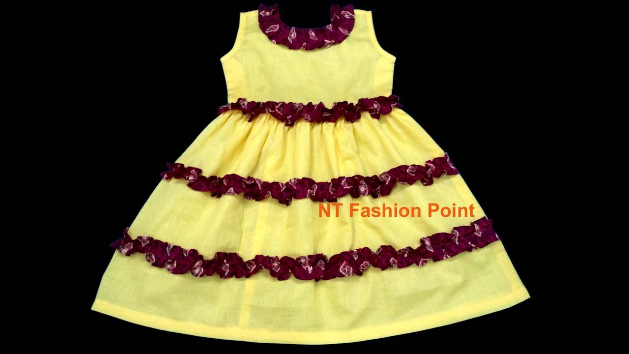 ee4e83ad9686 Simple summer dress design for baby girls