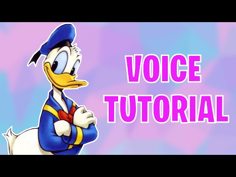 How To Do The Donald Duck Voice Tutorial