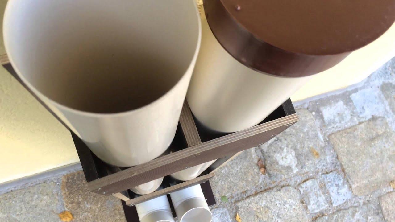 Futterspender aus Rohre basteln - YouTube