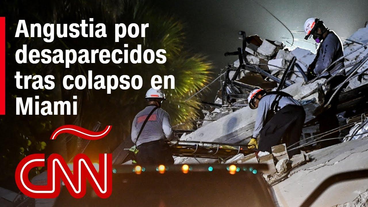 """""""Es realmente traumático ver el colapso"""": angustia e incertidumbre tras trágico derrumbe en Florida"""