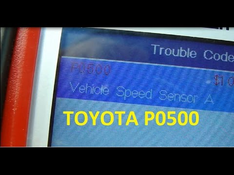 toyota sienna p0500 speed sensor location and replacement youtubeVehicle Speed Sensor Location On 1995 Toyota T100 Wiring Diagram #15