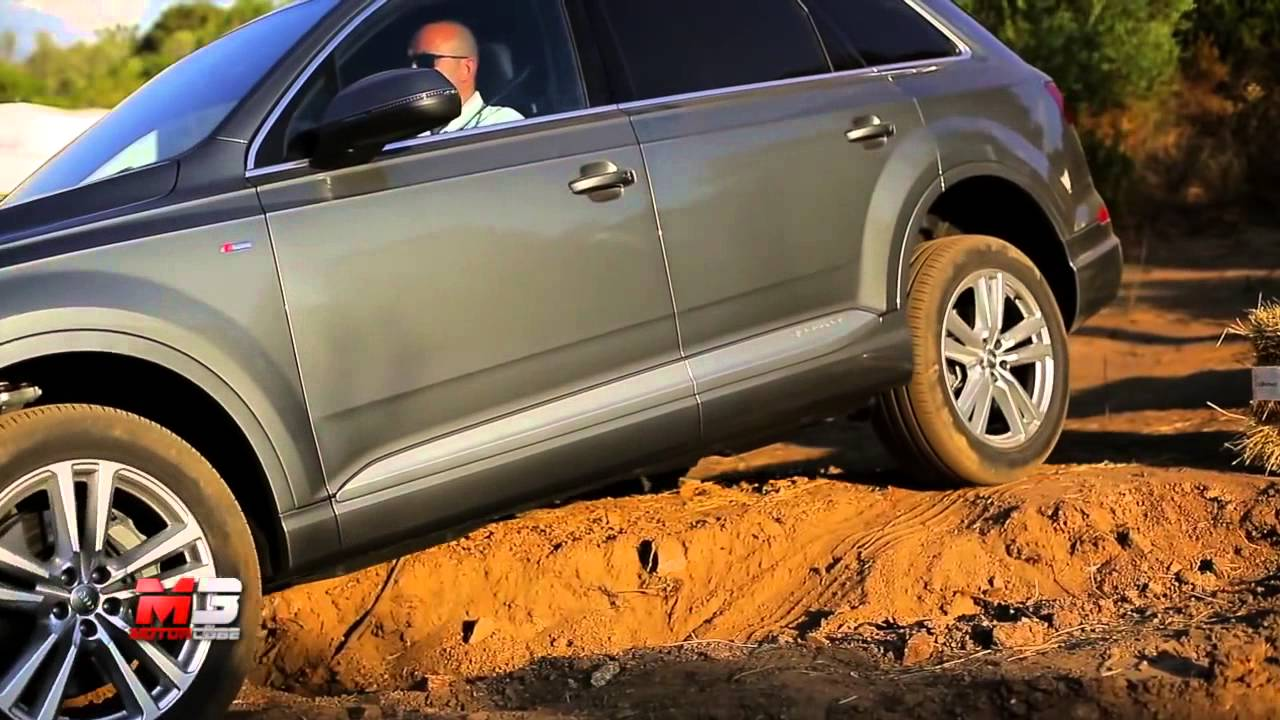 NEW AUDI Q7 2015 OFF ROAD TEST COSTA SMERALDA ONLY SOUND - YouTube