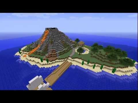 #1 Minecraft Timelapse Volcanic Island