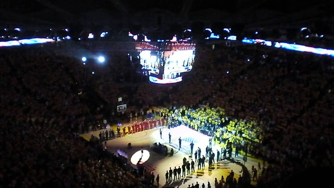 2015 NBA Finals - Game 1 - National Anthem - YouTube