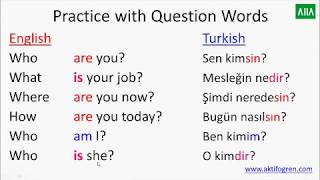 TO BE DERSİ  (TO BE IN ENGLISH) -  AM -IS-ARE- KONUSU -  İNGİLİZCE DERSLERİ 2. DERS