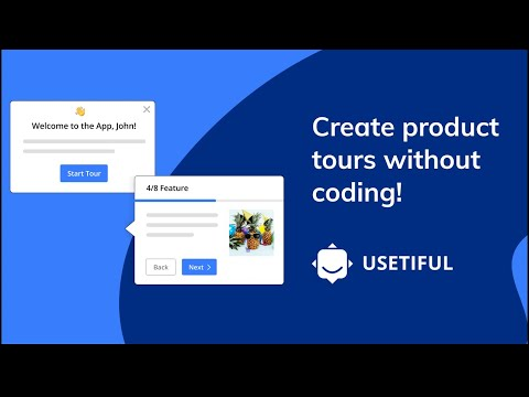 Create product tours without coding with Usetiful