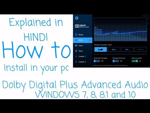 How To Download & Install Dolby Drivers On PC | simple steps download and  install HINDI
