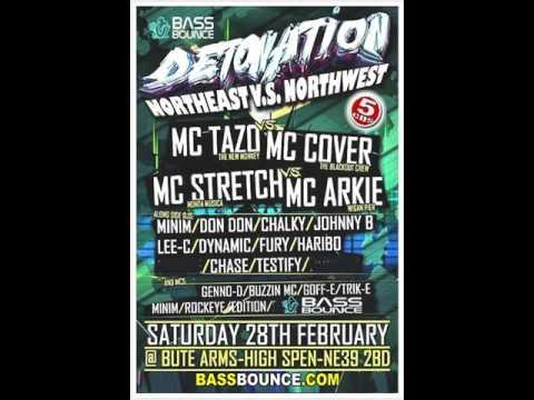 DJ Fury B2B DJ Dynamic Mc Cover B2B Mc Tazo @ Detonation North East vs North West Special 28.2.2015