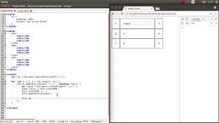 Редактирование таблицы по клику на ячейку средствами JavaScript