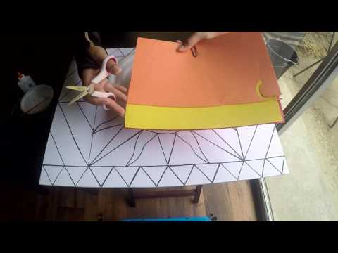 DIY Paper Mosiac  - Construction Paper - Wall Art - Step by Step Tutorial thumbnail