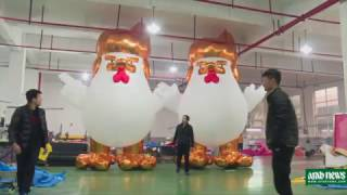 It's gonna be huge China factory hatches giant Trump chickens 2017 Video