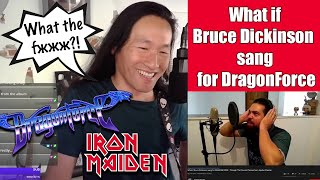 Herman Li Reaction to What if Bruce Dickinson sang for DragonForce - Through the Fire and Flames