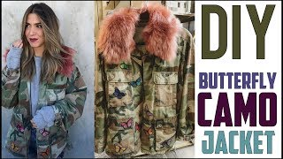 DIY: How To Make a Butterfly Camo Jacket - by Orly Shani