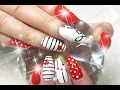 Acrylic Nails Cute Cupids VALENTINES DAY Nail Design