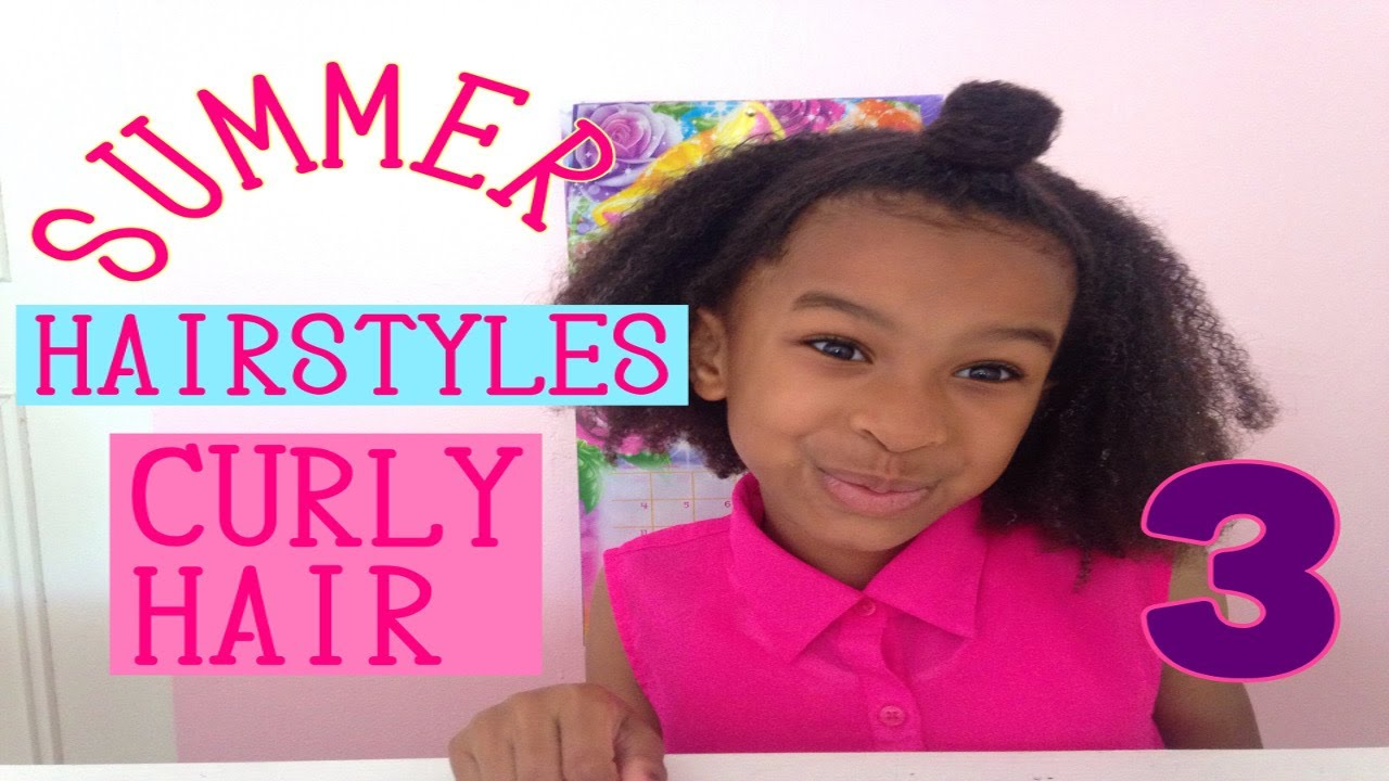 3 Easy Summer Hairstyles For Kids Youtube
