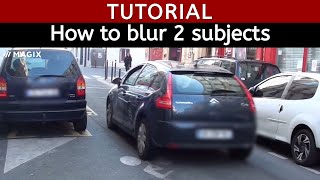 How to Blur 2 subjects in the same video Magix Movie Edit Pro