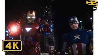 Железный Человек и Капитан Америка против Локи | Мстители | 4K ULTRA HD