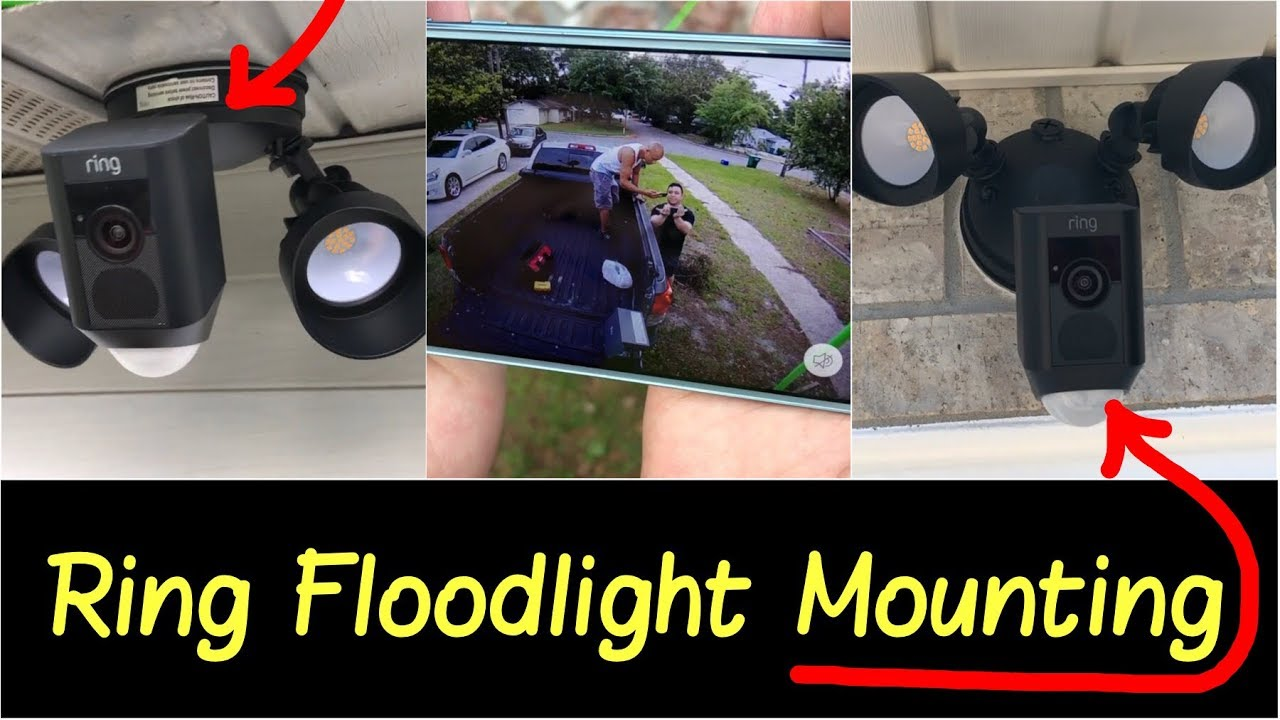 Two Ways To Mount Ring Floodlight No Pre Wired Setup Best Smart Wifi Floodlight Security Camera Youtube