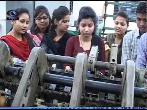 Career story on textile engineering.