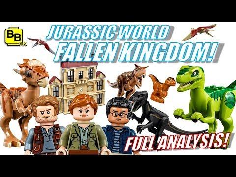 FULL LEGO SET ANALYSIS! JURASSIC WORLD FALLEN KINGDOM!!