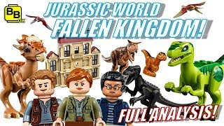 FULL LEGO SET ANALYSIS! JURASSIC WORLD FALLEN KINGDOM!!