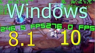 Windows 8.1 vs 10 Gaming Comparison CS:GO & LoL FX 6300