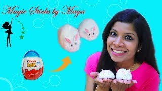How to Make Rabbit with Kinder Joy | How to Make Rabbit with Cotton | Best out of Waste