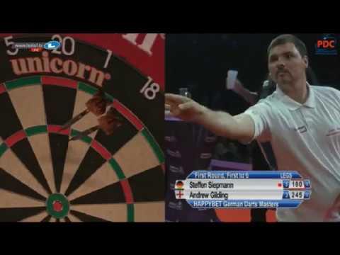 2017 German Darts Masters Round 1 Siepmann vs Gilding