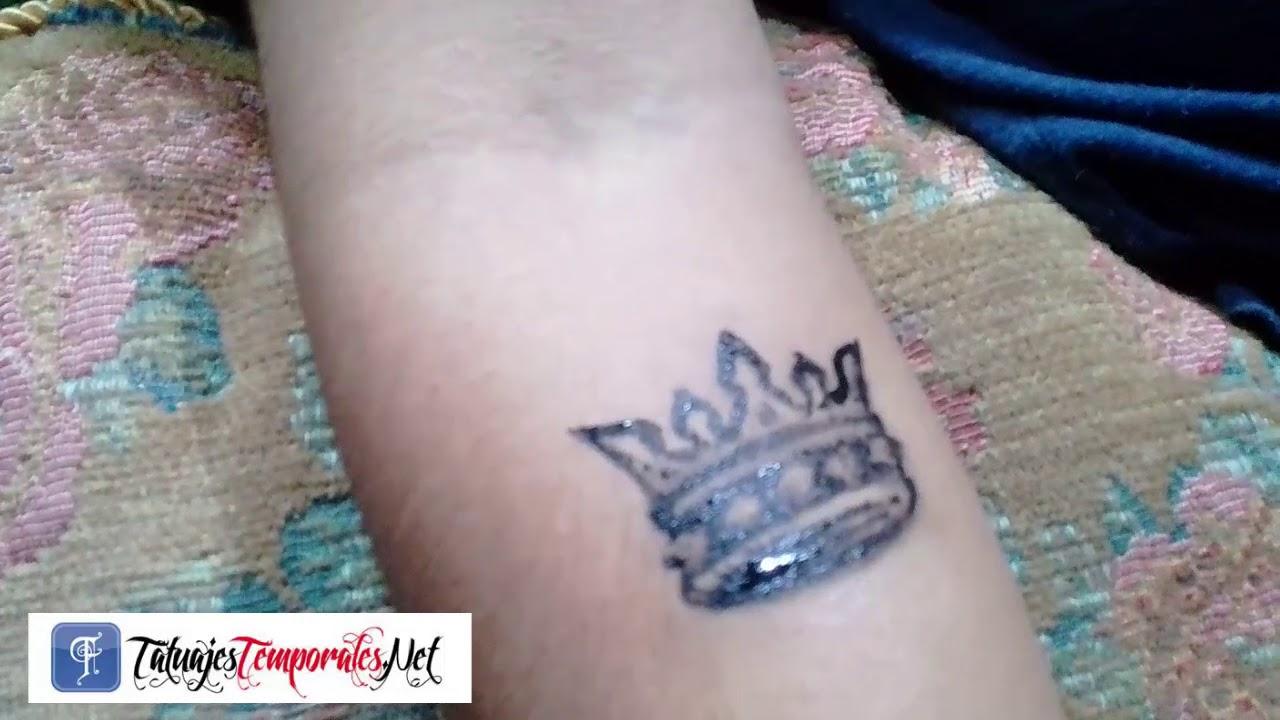 Tatuajes Temporales Badabun tatuaje temporal corona - youtube