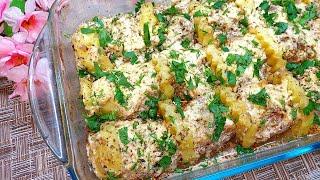Быстрый и Вкусный УЖИН! Картофель с фаршем в духовке на ужин. Картофельная запеканка с фаршем!