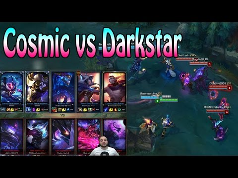 COSMIC vs DARKSTAR - SKIN BATTLE | League of Legends German