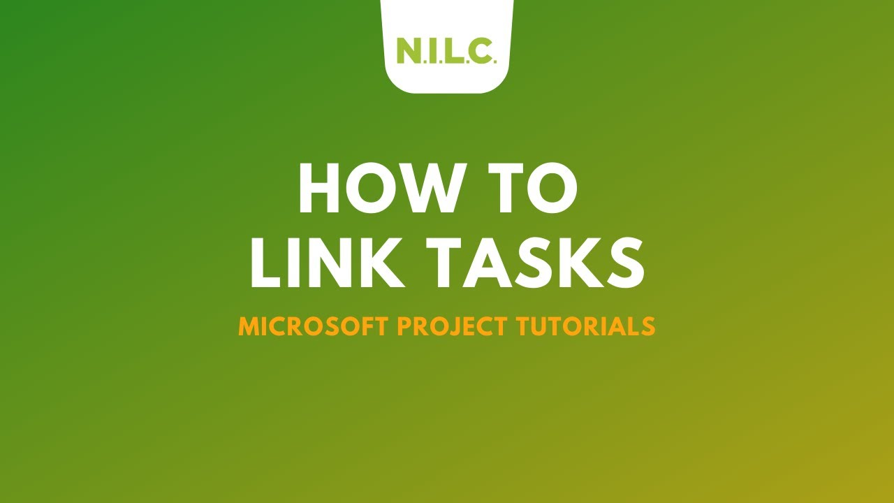Microsoft Project Tutorial How To Link Tasks Youtube