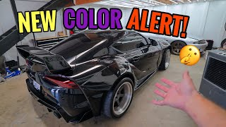 My Craziest Wrap Color for my Widebody Toyota Supra!