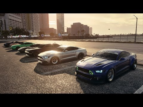 NFS Heat   1200+HP Drag Mustang Build / All Out Muscle Meet - Street Racing W/ C6, C7, Viper, & More