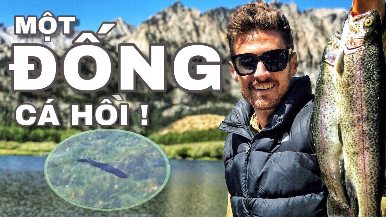 Câu cá NƯỚC TRONG VẮT NHƯ THỦY TINH!   Fishing CRYSTAL CLEAR WATER! (Bishop, CA) (Phụ đề Tiếng Việt)
