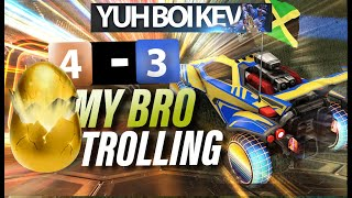 My Bro Trolling, Golden Egg Opening - Rocket League