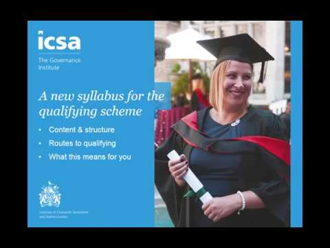 ICSA Qualification Update: what's changing & how you will benefit