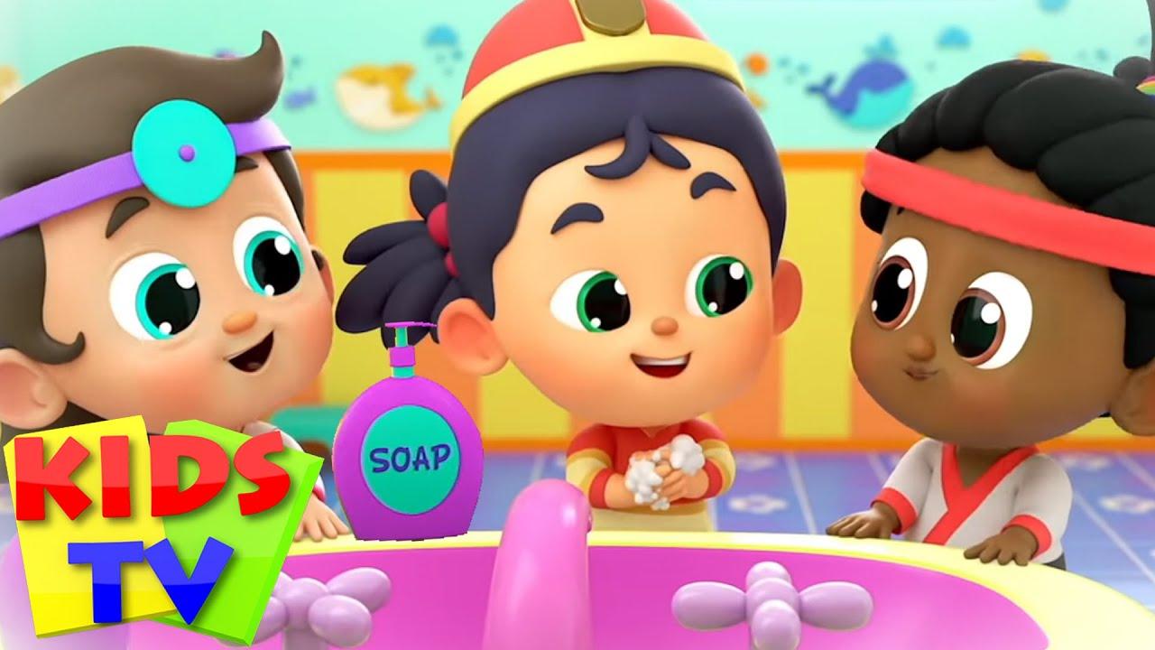 Wash Your Hands - Rig A Jig Jig Version   Healthy Habits   Nursery Rhymes & Songs - Kids Tv