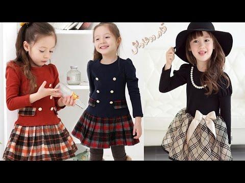 2ea10be54 اجمل موديلات ملابس اطفال شتاء 2017 🌼🌿 winter dresses for kids. قنادر و  دشاديش