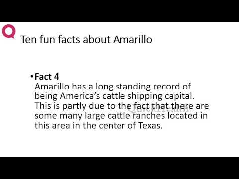 Ten Facts About Amarillo | MY HEALTH | HEALTH TIPS
