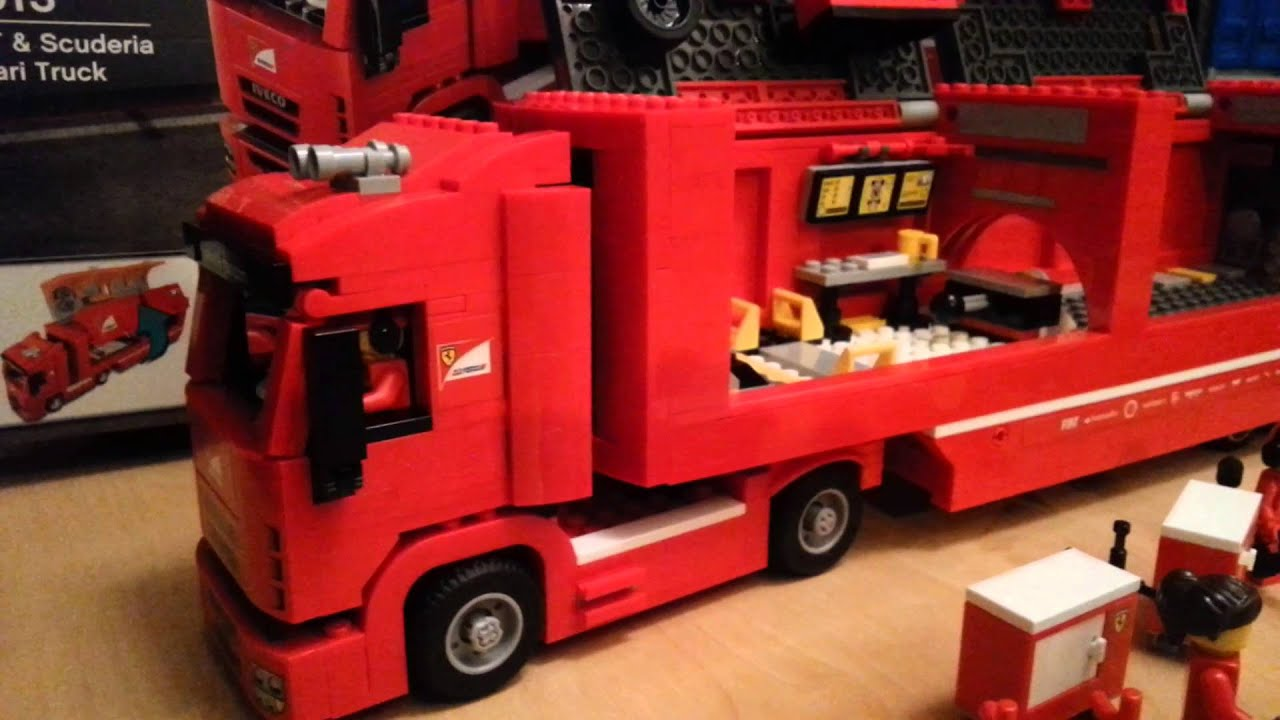 lego speed champions f14 t scuderia ferrari truck youtube. Black Bedroom Furniture Sets. Home Design Ideas