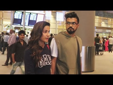 Hina Khan And Rocky Jaiswal RETURNS From Sri Lanka Holidays, Spotted At Airport