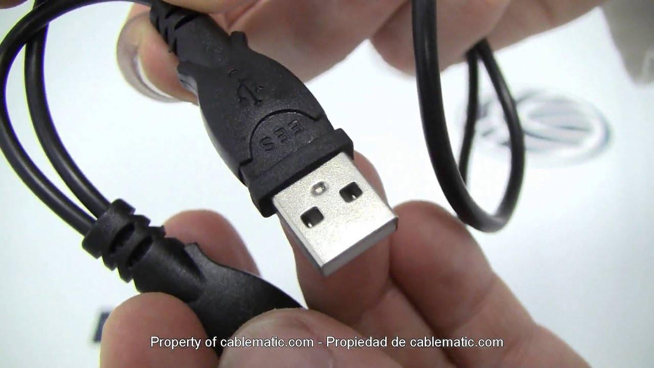 Cable Sata A Usb 20 Con Datos Y Alimentacin Distribuido Por To Plug Wiring Diagram Youtube Premium