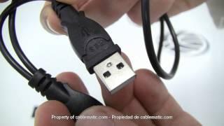 Cable SATA a USB 2.0 con datos y alimentación distribuido por CABLEMATIC ®