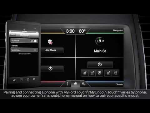 SYNC® With MyLincoln Touch™: Pairing And Connecting A Phone | Lincoln How-To Video